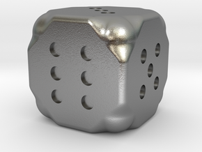 Dice in Raw Silver