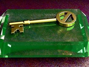Oz key in Polished Gold Steel