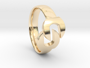 Wrench Ring  in 14k Gold Plated Brass