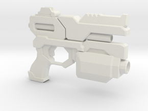 Sentry Pistol - Prop Gun in White Natural Versatile Plastic