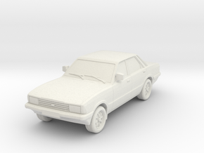 1-76 Ford Cortina Mk5 4 Door Hollow Wheels Attache in White Natural Versatile Plastic