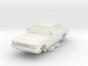 1-64 Ford Cortina Mk5 2 Door Hollow in White Natural Versatile Plastic