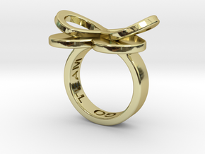 AMOUR in 18k gold plated  in 18k Gold Plated Brass: 7 / 54
