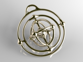 Atom Pendant in Interlocking Polished Brass