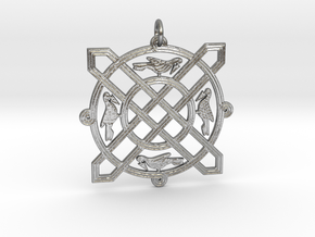 Croatian interlace pendant (+5 leadership) in Natural Silver
