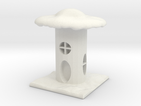 Mushroom House Rook in White Strong & Flexible