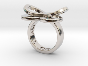 AMOUR in rhodium plated  in Rhodium Plated Brass: 7 / 54