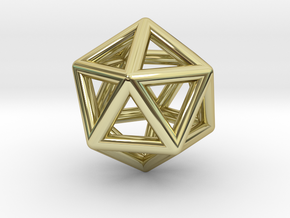 Icosahedron Golden Ratio Pendant in 18k Gold Plated Brass