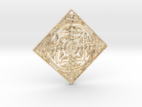 Croatian interlace pendant (+5 health regeneration in 14K Yellow Gold