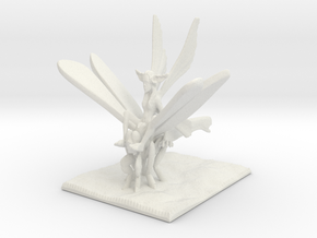 Dragonfly Knight in White Natural Versatile Plastic