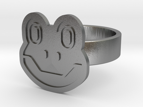 Frog Ring in Natural Silver: 13 / 69