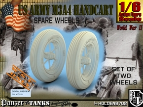 1-6 Wheels For M3A4 Handcart in White Processed Versatile Plastic
