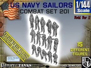 1-144 USN Combat Set 201 in Smooth Fine Detail Plastic