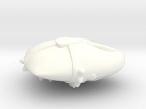 Studded Strap Heart Pendant in White Processed Versatile Plastic