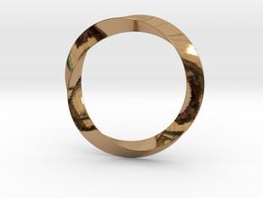 Mobius in Polished Brass (Interlocking Parts)
