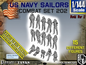 1-144 USN Combat Set 202 in Smooth Fine Detail Plastic
