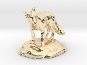 Xeno Borellis, Druid in Fox Form in 14K Yellow Gold