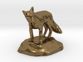 Xeno Borellis, Druid in Fox Form in Natural Bronze