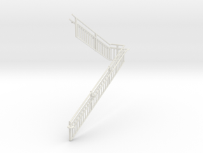 MOF Stair Railing#13 in White Natural Versatile Plastic