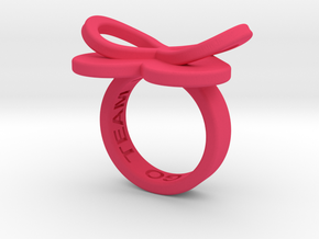 AMOUR in pink polished plastic in Pink Strong & Flexible Polished: 5.5 / 50.25