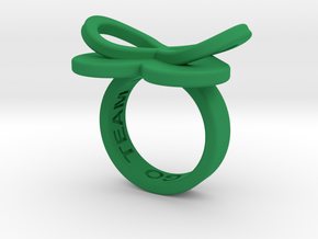 AMOUR in green polished plastic  in Green Strong & Flexible Polished: 5.5 / 50.25