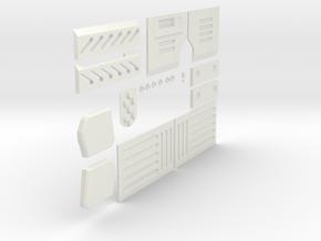 Sydex Greebles Nurnies Greeblies in White Natural Versatile Plastic