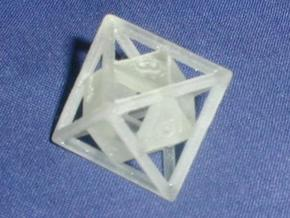 """Open"" d8 - Eight-sided die in Transparent Acrylic"