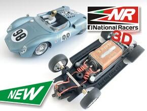 3D Chassis - MRRC King Cobra - Inline in Black Natural Versatile Plastic