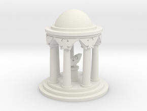 6mm Imperial Shrine in White Natural Versatile Plastic