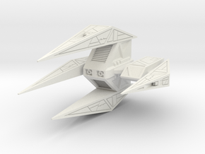 Wing Commander Kilrathy Paktahn Heavy Bomber in White Natural Versatile Plastic