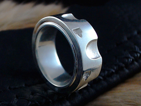 Peacemaker Ring - Size 9 1/2 (19.35 mm) in Polished Silver