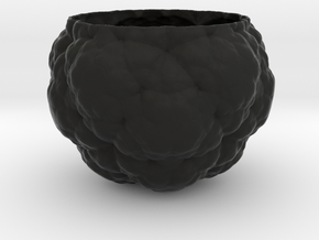 Fractal Flower Pot IV in Black Natural Versatile Plastic