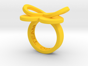 AMOUR in yellow polished plastic  in Yellow Strong & Flexible Polished: 5.5 / 50.25