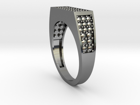 Diamond Rings in Fine Detail Polished Silver