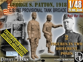 1-48 George S Patton 1918 in Smooth Fine Detail Plastic