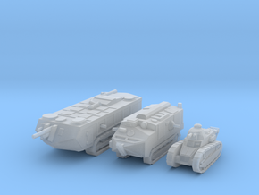 6mm WW1 French Tanks in Smoothest Fine Detail Plastic