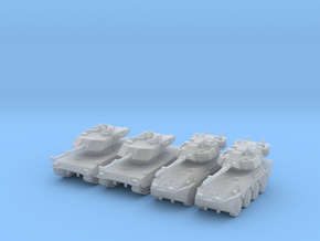 6mm 1/285 Ariete C1 tank and B1 Centauro vehicle in Smoothest Fine Detail Plastic
