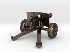 28mm SciFi laser cannon in Polished Bronzed Silver Steel