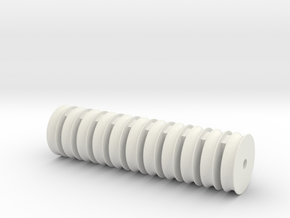 11 sheaves 8x1,9mm in White Natural Versatile Plastic