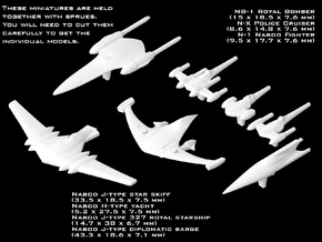 (Armada) Naboo Ship Set in Frosted Ultra Detail