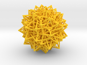 Compound of Fifteen 16-Cells,Variation 1 in Yellow Processed Versatile Plastic