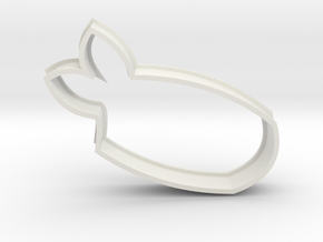 Ebi/Shrimp Sushi Cookie Cutter in White Strong & Flexible