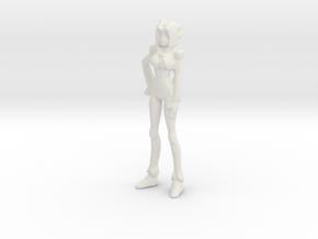 1/72 Female Pilot Standing in White Natural Versatile Plastic