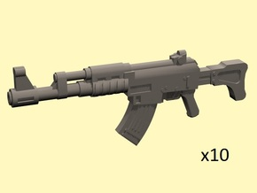 28mm SciFi AK style assault rifles (10) in Smoothest Fine Detail Plastic