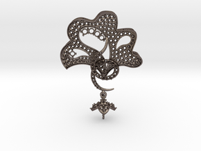 Pendant with three parts PS001000010 in Polished Bronzed Silver Steel