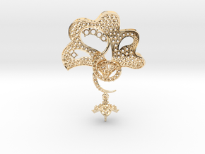 Pendant with three parts PS001000010 in 14k Gold Plated Brass