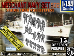 1/144 Merchant Navy Set 502 in Smooth Fine Detail Plastic