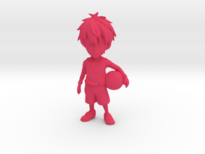 10 CM Customizeable Basketball Figurine in Pink Processed Versatile Plastic