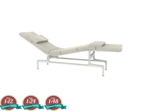 Miniature Eames Chaise - Charles & Ray Eames in White Natural Versatile Plastic: 1:24