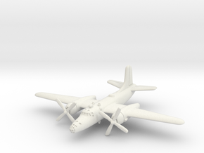 North American XB-28 1/285 6mm in White Natural Versatile Plastic